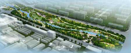 天津滨海旅游区甘露溪公园景观设计