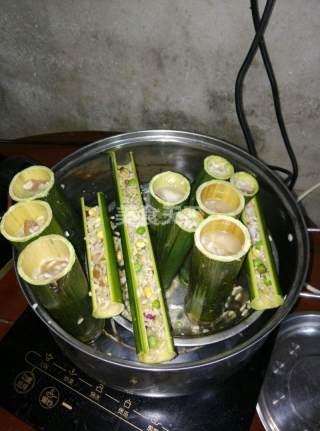 竹主题研学园:竹筒饭的手工做法